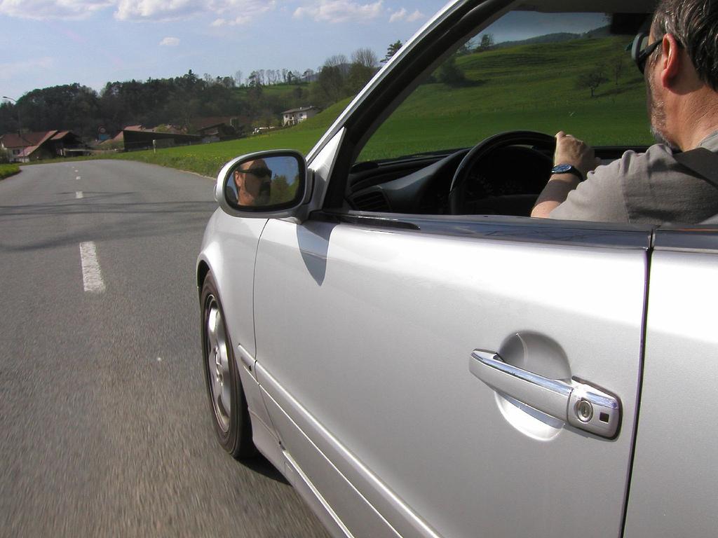 Man driving